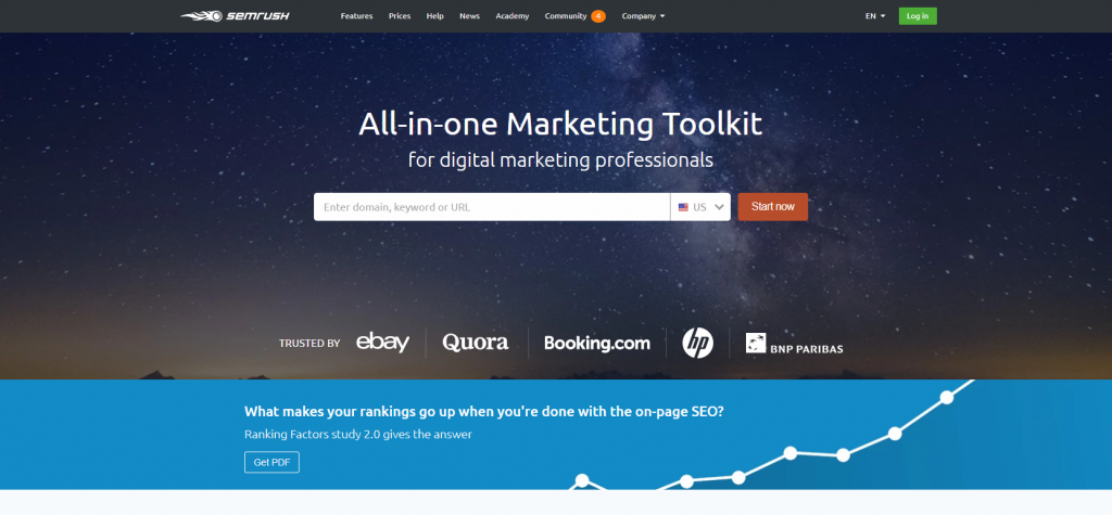 tools for startups semrush