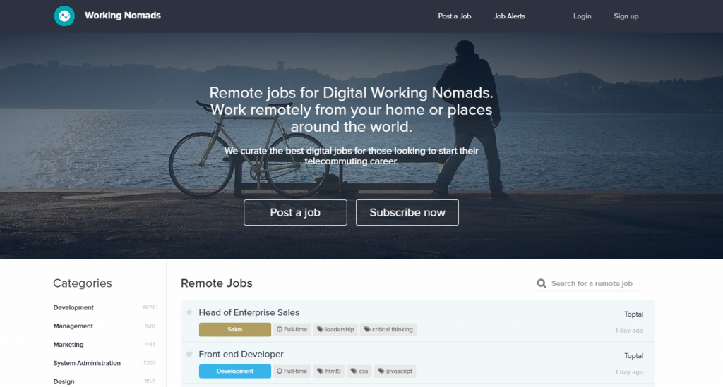 remote work working nomads