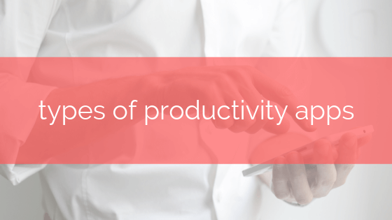 types of productivity apps taskeo post banner